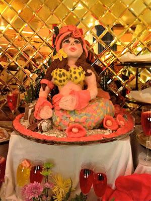 Marzipan mermaid sculpture