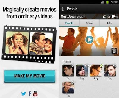 Editor de vídeos para el teléfono móvil, aplicación Magisto