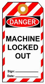 machine locked out