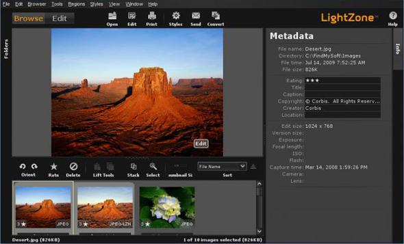 Screenshot di LightZone