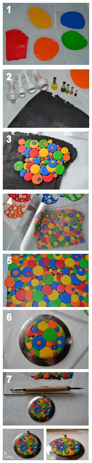 arcilla polimérica, polymer clay, fimo, bisuteria, jewelry, tutorial