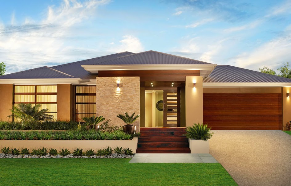 Single Storey House on one story modern homes