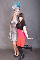 Con mi gran amiga y modelo Livia Ariza