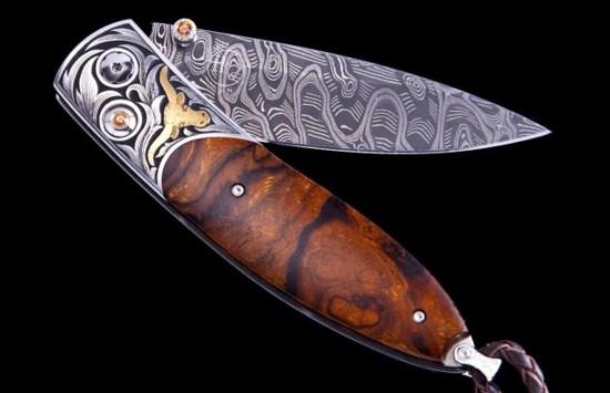 custom pocket knife Monarch Longhorn