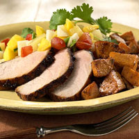 Caribbean Pork with Sweet Potatoes
