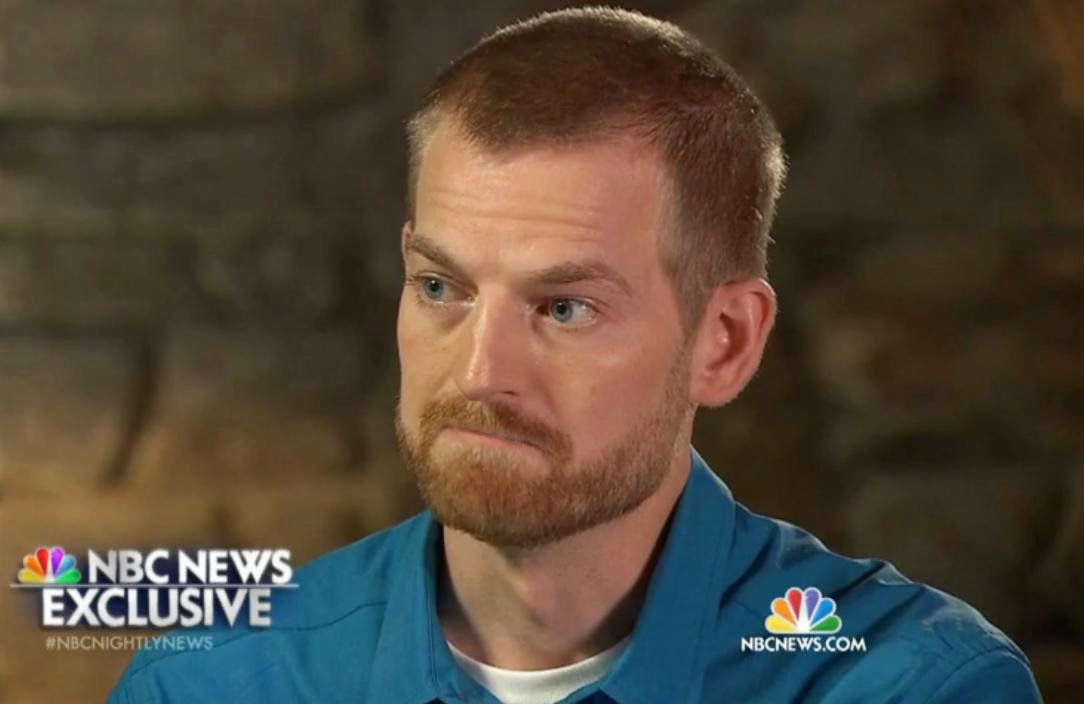 Screenshot from the NBC News exclusive interview