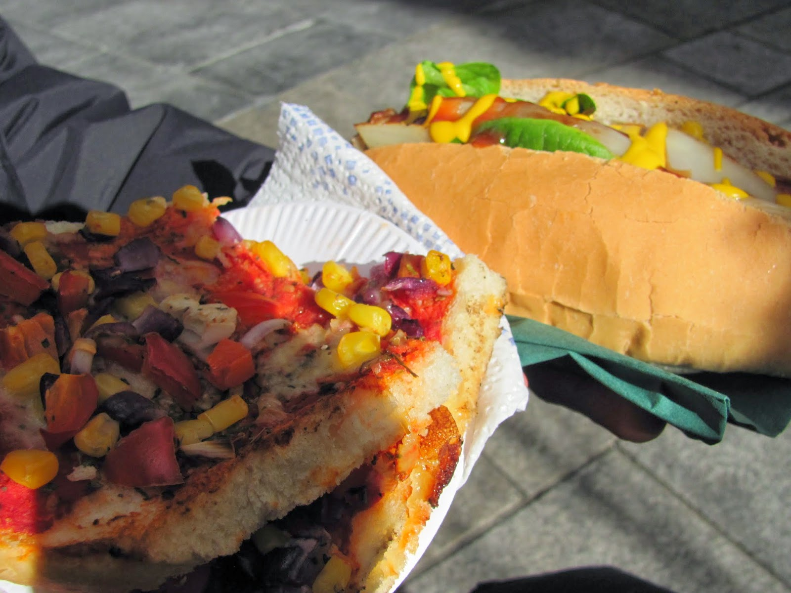 Bruschetta and Venison Bratwurst Temple Bar Food Market Dublin, Ireland