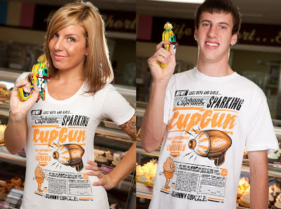 "Limited Edition Johnny Cupcakes ""Cupgun"" T-Shirt"