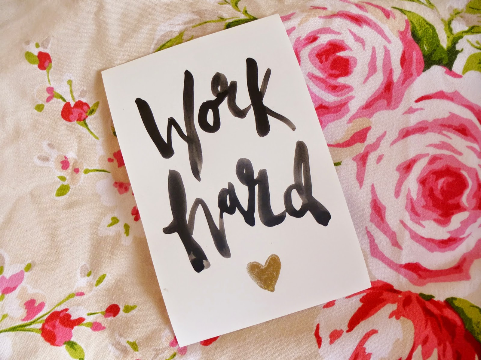 Carrie @wishwishwish Work Hard Postcard