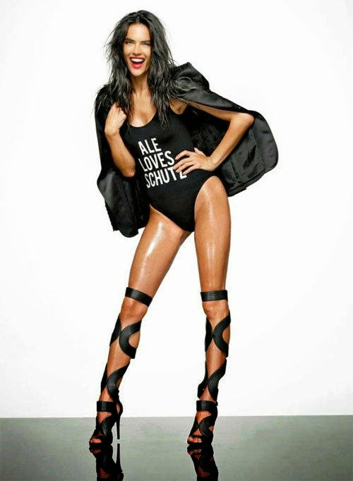 Long legs of supermodel Alessandra Ambrosio