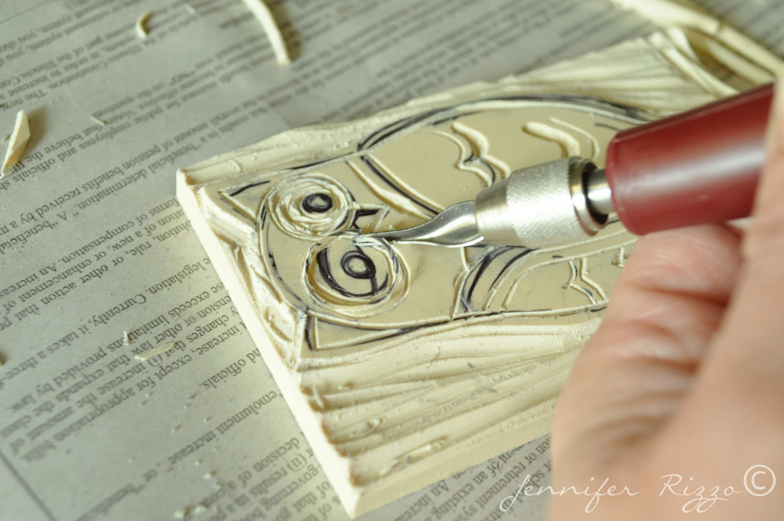 Carve your own rubber stamps it s a hoot jennifer