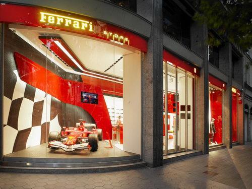 Ferrari Store Barcelona Design by Iosa Ghini