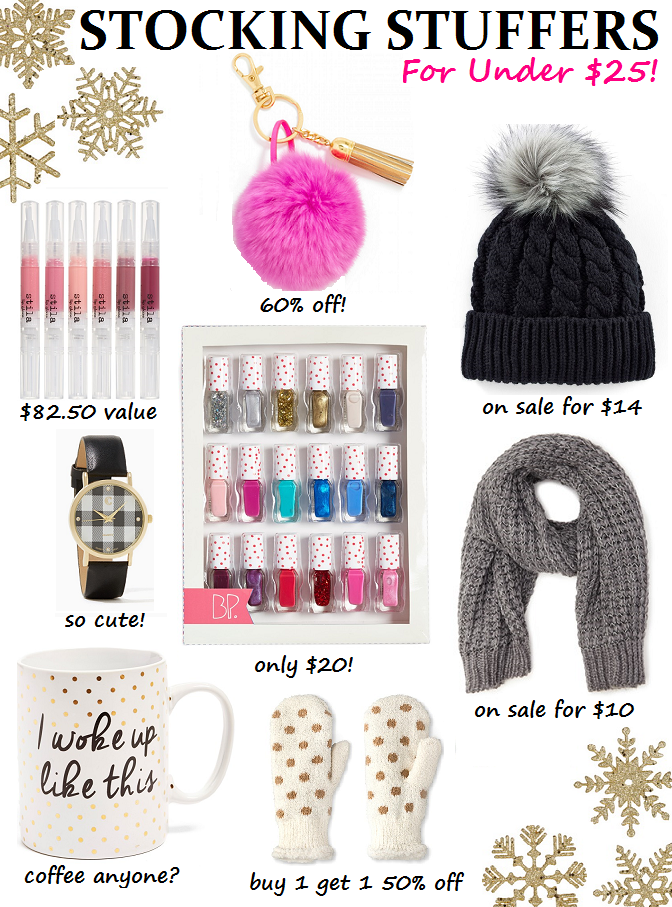 what to get for stockings for Christmas for women and girls, make-up ideas, cold weather wear,