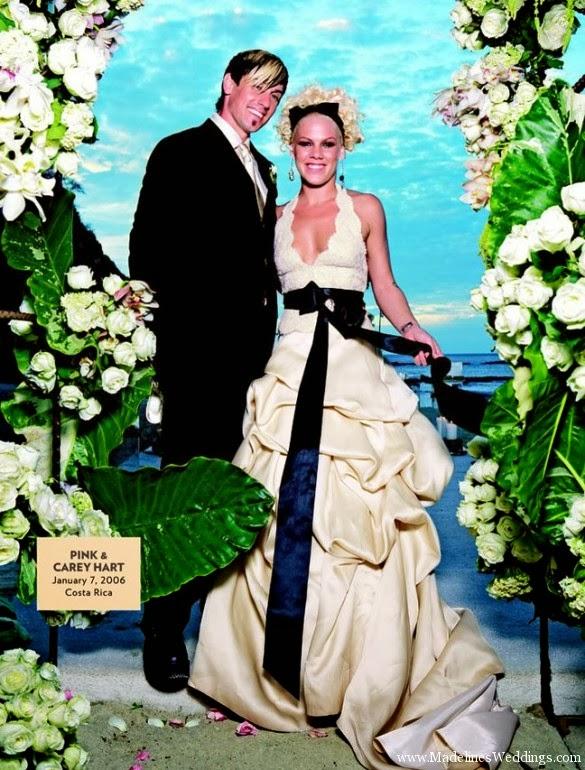 Brides on weddings pink and carey hart s wedding