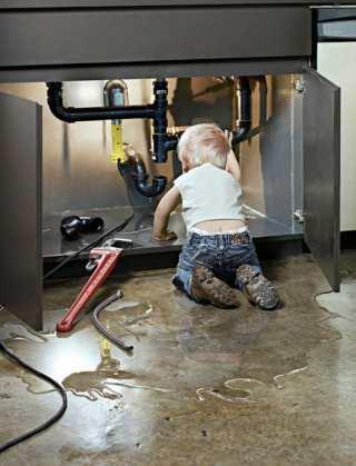 hydraulik, praca, dziecko