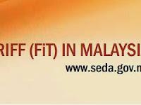 Jadual dan Kuota FiT untuk Semenanjung Malaysia, Sabah dan Labuan