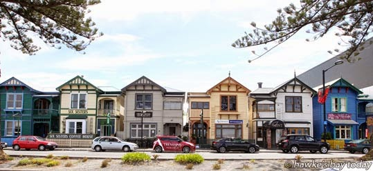 The Six Sisters, on Marine Parade, Napier. photograph