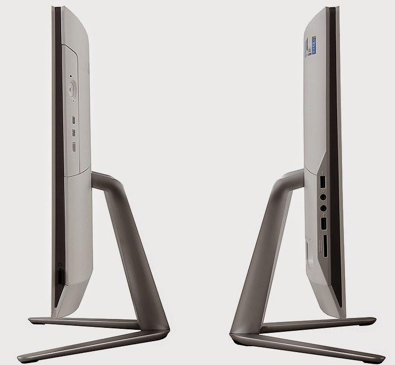 левая и правая сторона моноблока Lenovo IdeaCentre C460
