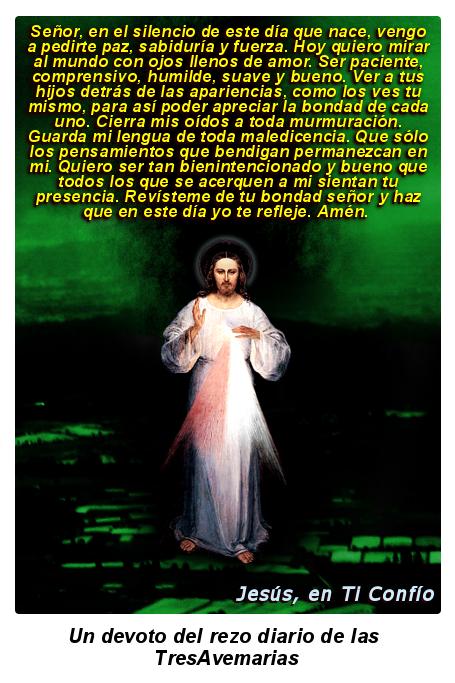 jesus misericordioso con oracion para el dia que nace y comienza