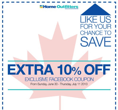 Canadian Daily Deals Home Outfitters Exclusive Canada Day Coupon Extra 10 Off June 30 July 11
