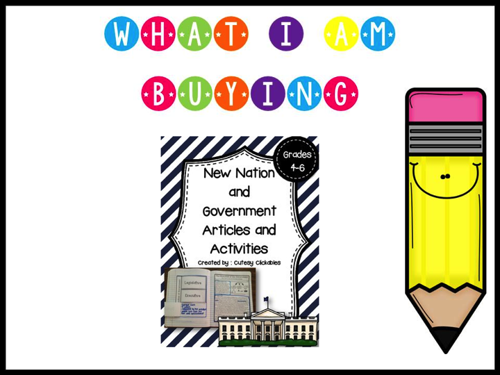 http://www.teacherspayteachers.com/Product/New-Nation-and-Government-Nonfiction-Articles-with-Activities-for-Notebooks-1300383