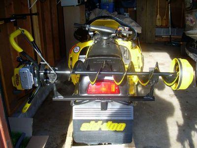 Snowmobile Auger Rack1