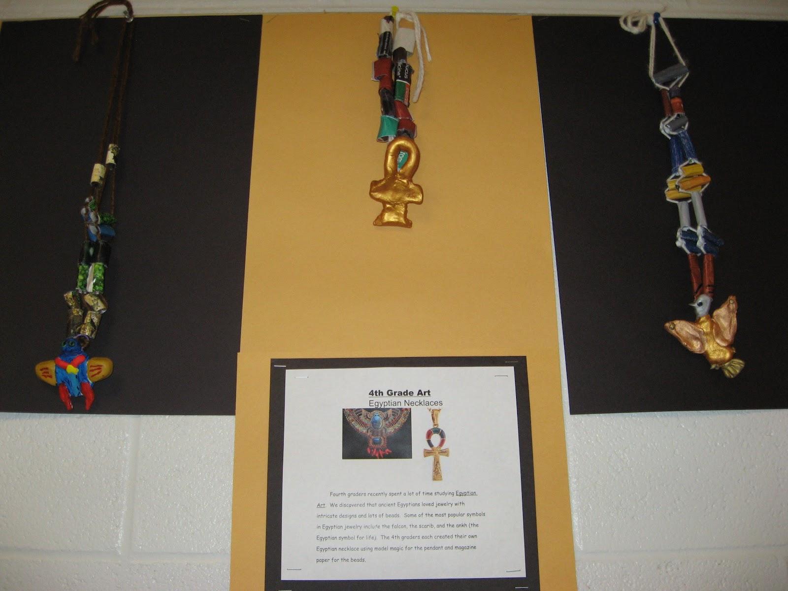 Jamestown Elementary Art Blog 4th Grade Egyptian Necklaces