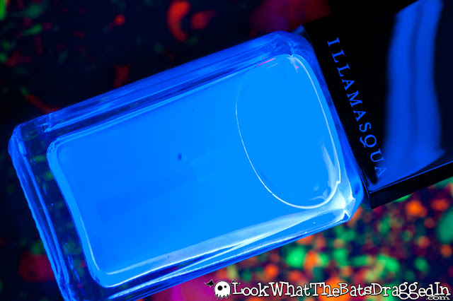 Illamasqua Paranormal Geist nail polish collection swatch UV glow