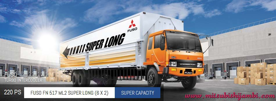 Spesifikasi Mitsubishi Fuso FN 517 ML2 Super Long (6X2) 220 PS Jambi