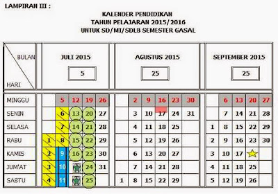Kalender Pendidikan 2015-2016