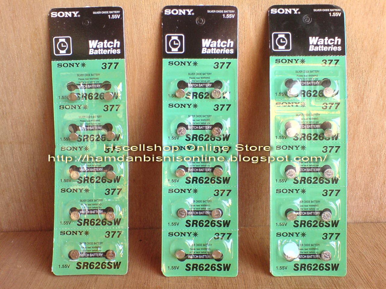 Baterai Jam Tangan Batre SR626SW Sony