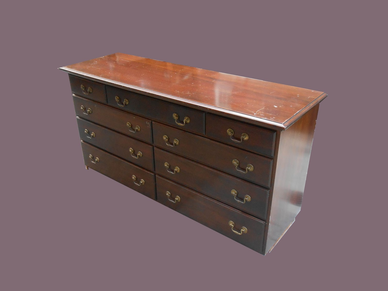 Uhuru furniture collectibles mahogany dresser with Handles for bedroom furniture