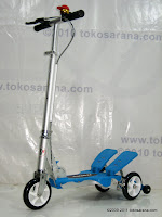3 DoesBike S378 Dual Pedal Scooter