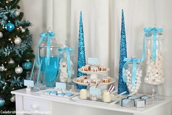 mesa de doces de natal