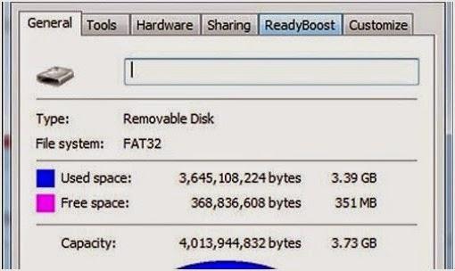 Cara Menambah Memory RAM Dengan Menggunakan Flashdisk Untuk Windows 7