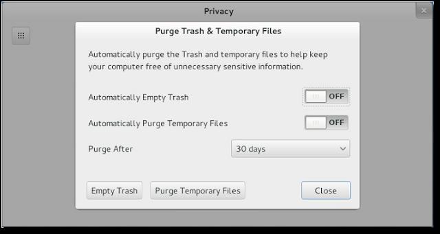 privacy control in gnome 3.8