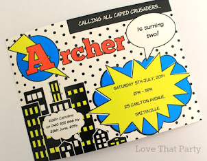 Superhero Comic Party Invitation