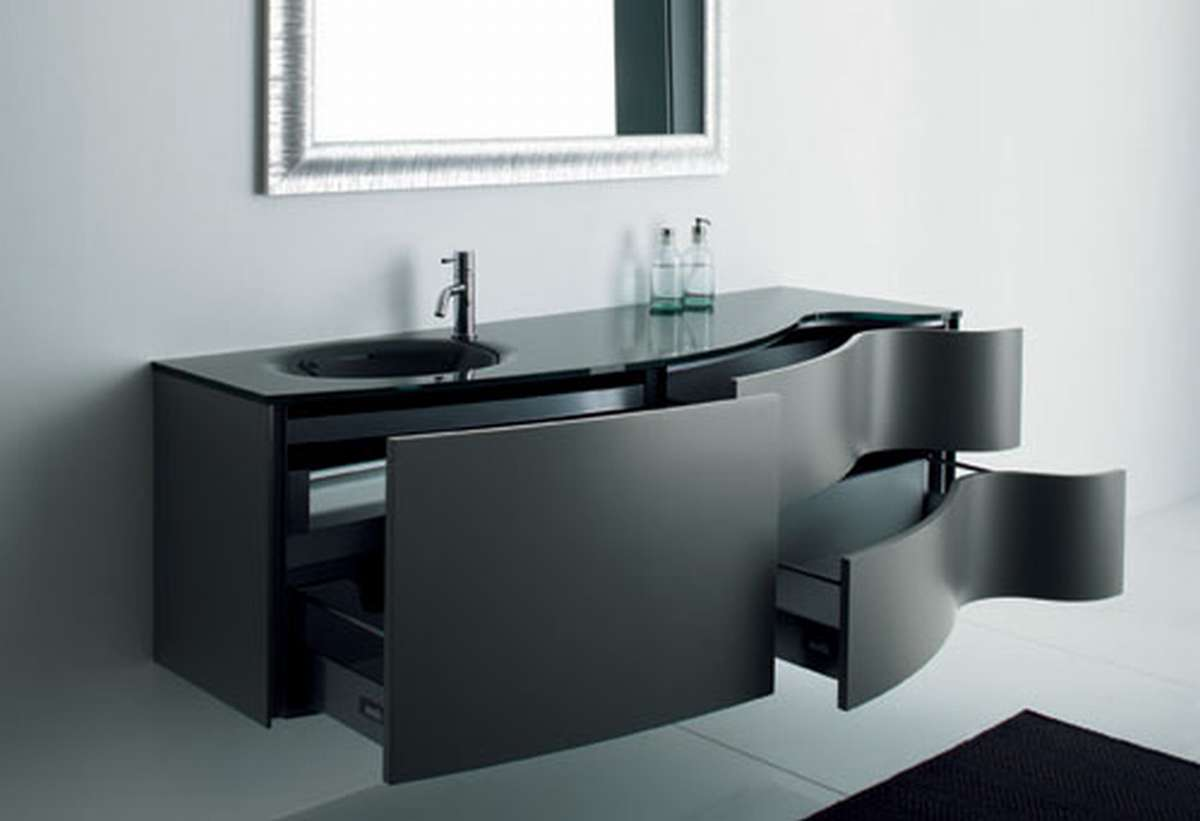 Bathroom furniture choosing furniture for your bathroom for Bathroom designs black
