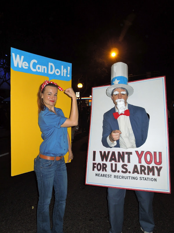 Wartime propaganda poster costumes WEHO Halloween Carnaval