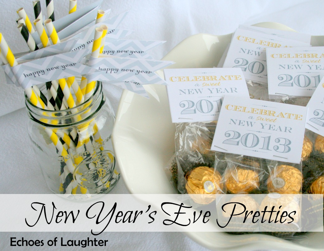 new year 39 s eve party favors echoes of laughter. Black Bedroom Furniture Sets. Home Design Ideas