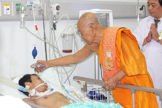 Bénédiction pour un patient