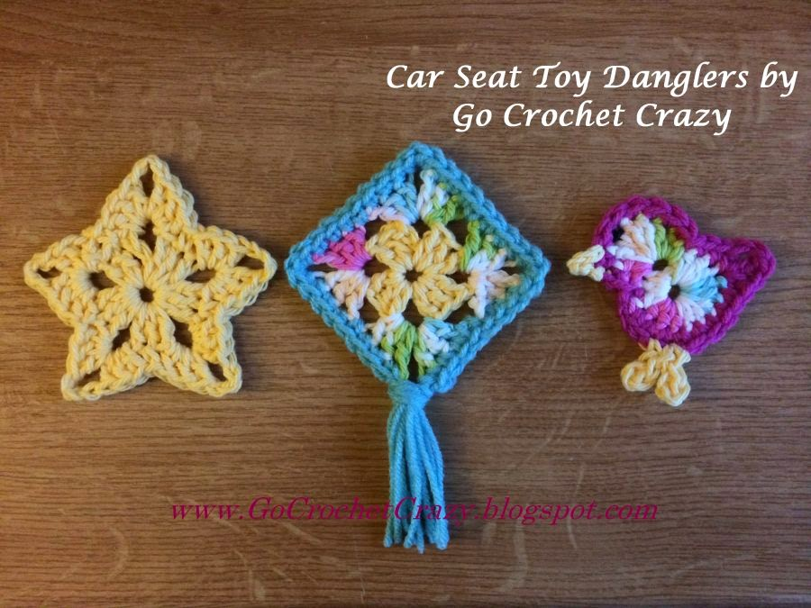Car Seat Toy Motifs by Go Crochet Crazy