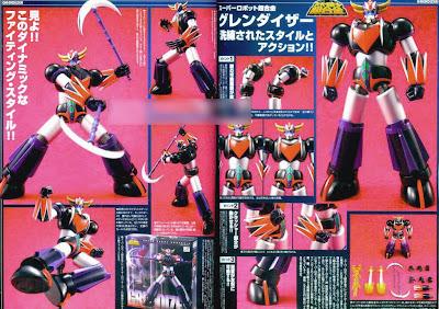 Bandai Super Robot Chogokin Grendizer Figure (Magazine Scan)