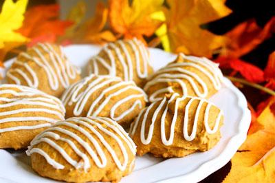 Iced Pumpkin Cookies Recipe ~ Easy Dessert Recipes