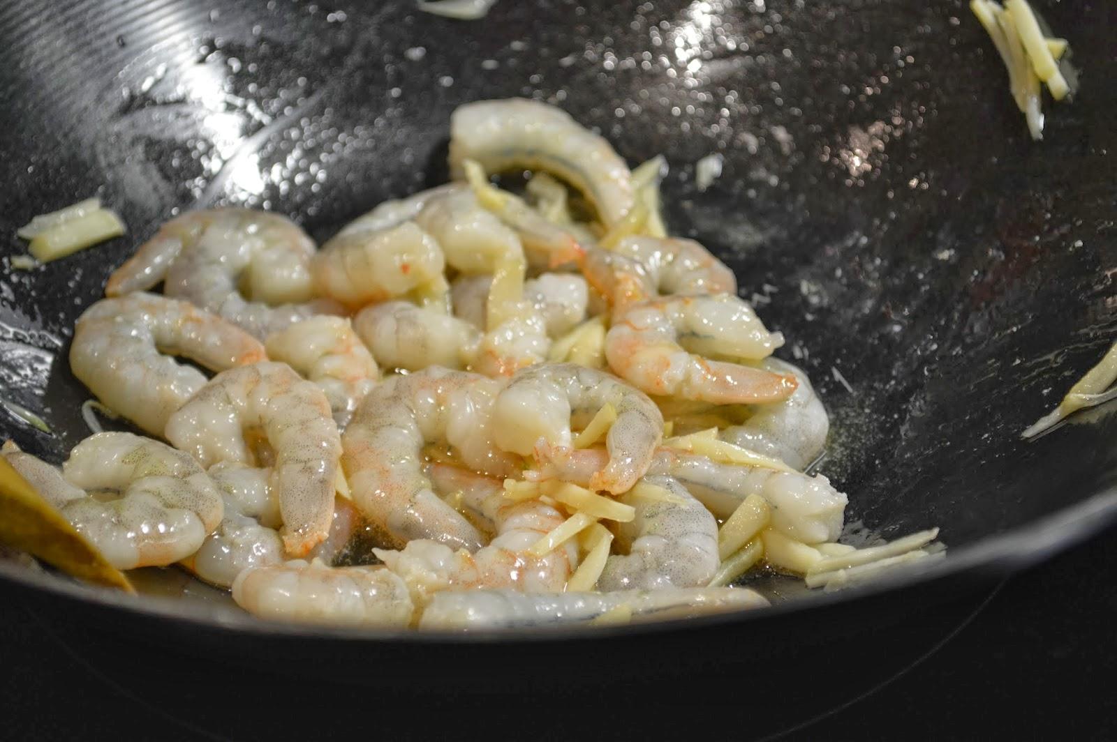 Cook prawns