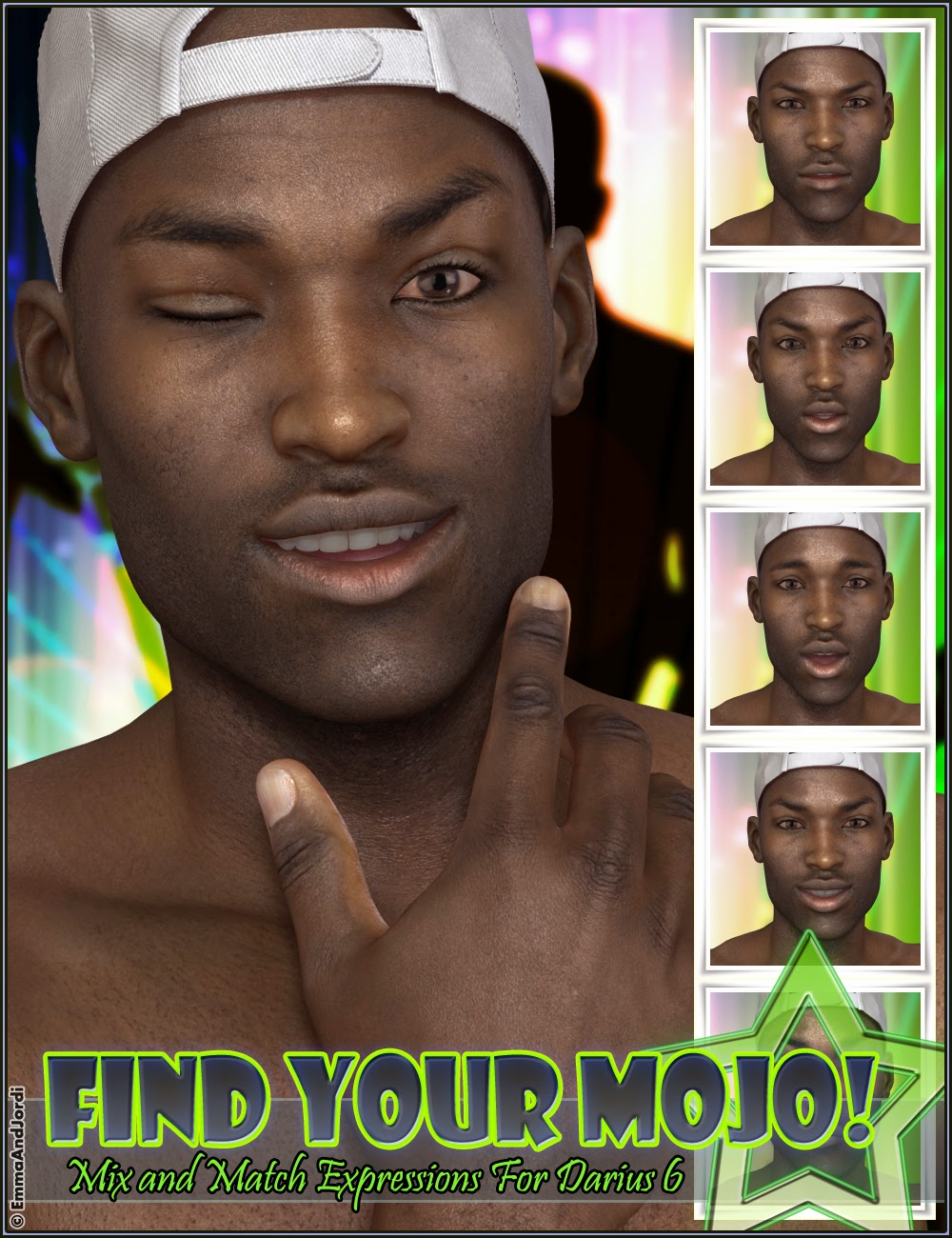 http://www.daz3d.com/find-your-mojo-mix-and-match-expressions-for-darius-6