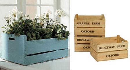 Decorar y reciclar cajas de verduras recicladas for Diseno de muebles con cajones de verduras