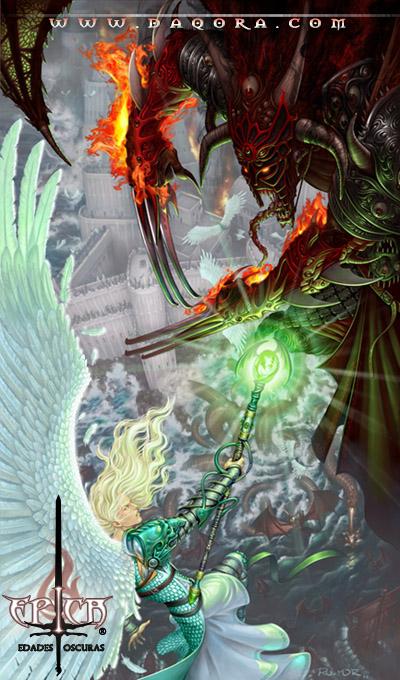 Ilustración de portada realizada por ªRU-MOR para el juego de cartas ÉPICA: edades oscuras.