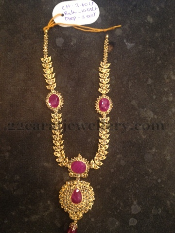water product necklace gold light broad nakshi uncuts layer weighted haram mango diamond