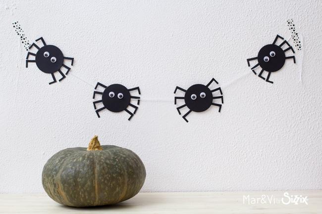 Especial Halloween: guirnalda de arañas